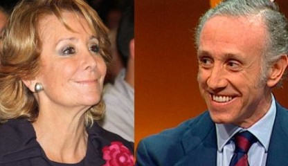 Esperanza Aguirre y Eduardo Inda
