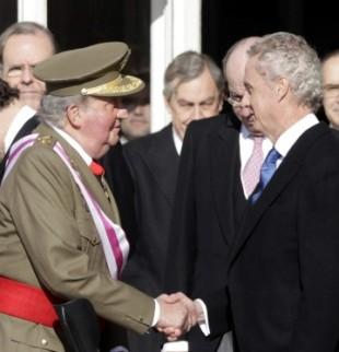 Rey Juan Carlos y Pedro Morenés, Ministro de Defensa