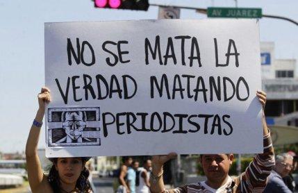 Manifestaciones en México por la muerte de periodistas