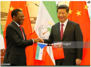 Obiang Nguema y Xi Jinping