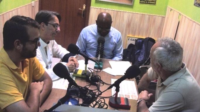 Por la izquierda, Juan Prete, Javier Martínez, Severo Moto y Eugenio Pordomingo