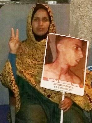 Ttacbar Haddi, madre de Mohamed Lamin Haidala, joven asesinado en el Sáhara Occidental