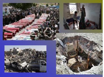 """Algunos de los """"efectos"""" de la guerra contra el Yemen: Foto Nazanin."""