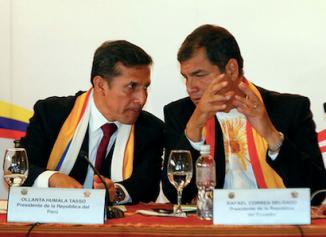 Presidentes, Correa, y Humala