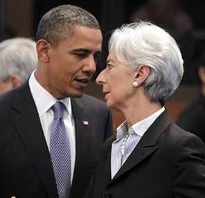 Obama y Lagarde