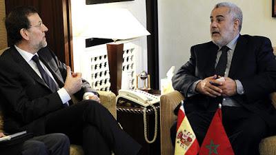 El Presidente del Gobierno español, Mariano Rajoy y Abdelilah Benkiran, Primer Ministro de Marruecos.