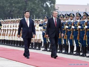Xi Jinping y  Recep Tayyip Erdogan