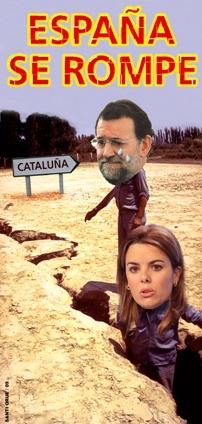 España se rompe, portada del semanario crítico EL JUEVES.