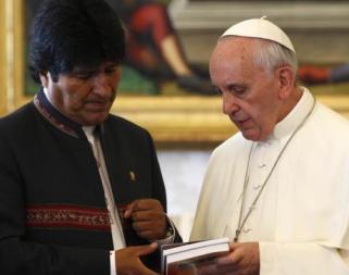 Evo Morales y el Papa Francisco