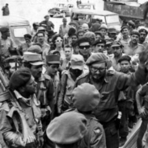 Fidel Castro en Bahía de Cochinos