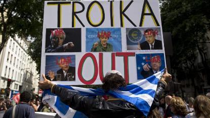 El pueblo francés apoya al griego