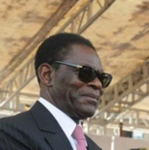 El dictador guineano, Teodoro Obiang Nguema