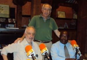 De izquierda a derecha, José Manuel González Torga, Eugenio Pordomingo y Severo Moto.
