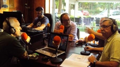 De izquierda a derecha, Eugenio Pordomingo, Alfredo Matarranz (técnico), Víctor Domingo; Javier Castro-Villacañas y Rafael Permuy.