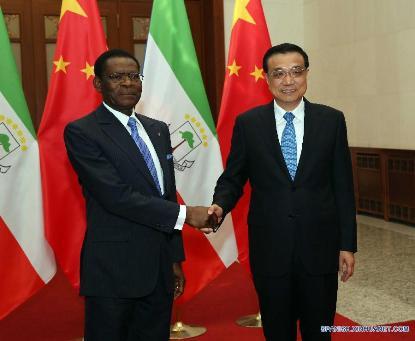 Presidentes de Guinea Ecuatorial y China.