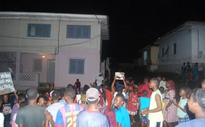 Manifestaciones en Malabo (Guinea Ecuatorial)