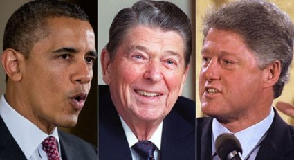 Obama, Reagan y Clinton