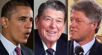 Obama, Reagan y Clinton