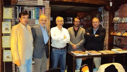 De izquierda a derecha, Aniceto Setién, José Manuel González Torga, Eugenio Pordomingo, Rafael Díaz y Javier Castro-Villacañas