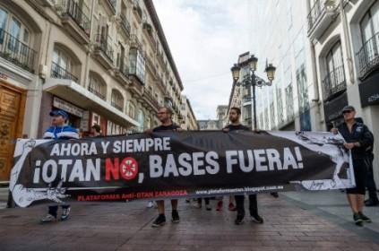 Manifestación en Zaragoza contra la OTAN