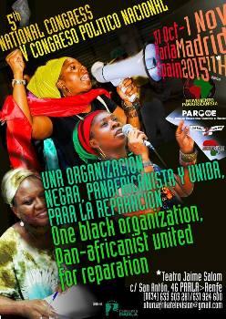 Cartel anunciador del V Congreso Africanista