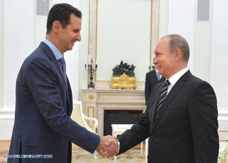 Bashar al Asad y Vladimir Putin