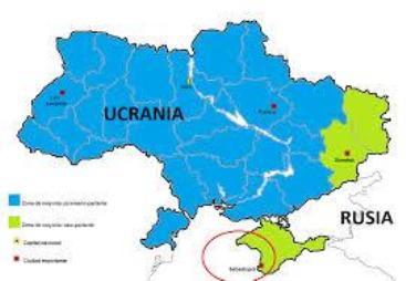 Mapa actual de Ucrania
