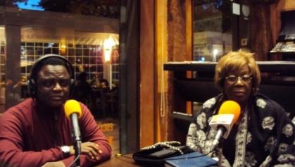 Weja Chicampo y la embajadora de Guinea Ecuatorial