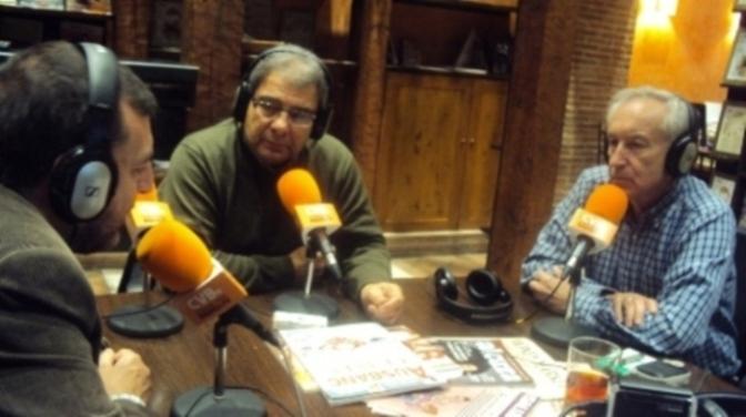 A la izquierda, Aniceto Setién, Majed Dibsi Bulbul y Eugenio Pordomingo