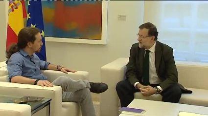Pablo Iglesias y Mariano Rajou