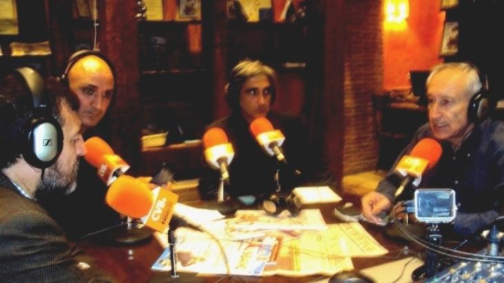 De izquierda a derecha, Aniceto Setién, Serafín Giraldo Pérez, Iván Vélez y Eugenio Pordoming.