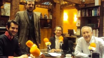 De izquierda a derecha, Raúl Peña, Aniceto Setién, Mazaly Aguilar y Eugenio Pordomingo