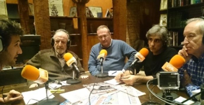 De izquierda a derecha, Raúl Peña, José Manuel González Torga, Javier Castro-Villacañas, Iván Vélez y Eugenio Pordomingo.