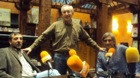 De izquierda a derecha, Aniceto Setién, Eugenio Pordomingo e Iván Vélez.