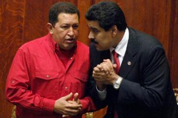 Hugo Chávez y Nicolás Madur