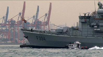 Fragatas de la OTAn En Estambul. Foto Euronews.