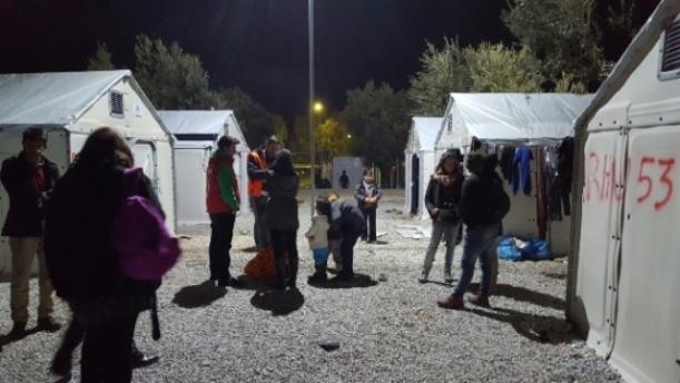 Campamento de Mensajeros de la Paz y de REMAR en Grecia.