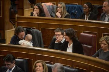 Pablo Iglesias, Iñigo Errejón y Carolina Bescansa