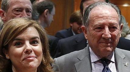Soraya Sáenz de Santamaría y Félix Sanz Roldán