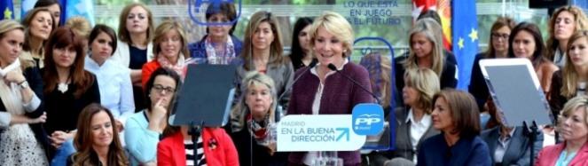 Esperanza Aguirre: Foto de la página de Internet del PP-Madrid.