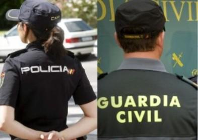 Guardia Civil y Policía Nacional.