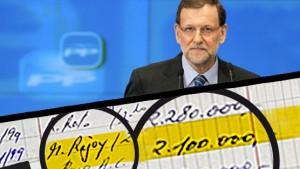 El apunte de Bárcenas con la cantidad pagada a Rajoy.