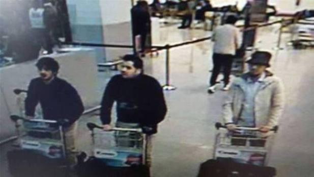 Tres de los supuestos terroristas.