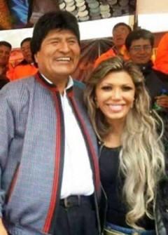 Evo Morales y Gabriela Zapata,