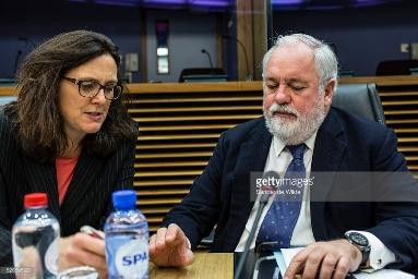 Cecilia Malmströ y Miguel Arias Cañete.