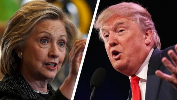 Clinton y Trump: fotografía publicada en Thefiscaltimes.com.