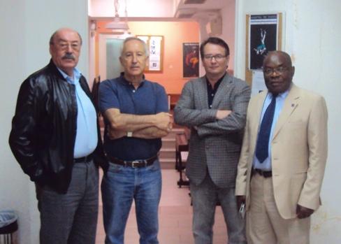 De izquierda a derecha, el actor Jaime Suárez, Eugenio Pordomingo, Rafael Díaz y Severo Moto.