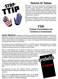 El Tablao cartel Tertulia(1)