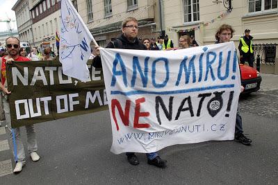 No a la OTAN en Polonia.