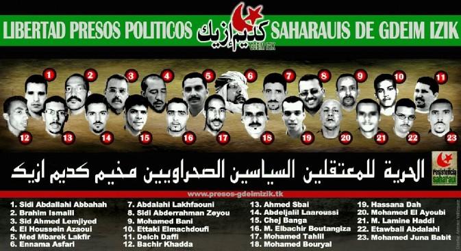 Presos políticos saharauis del grupo Gdeim Izik